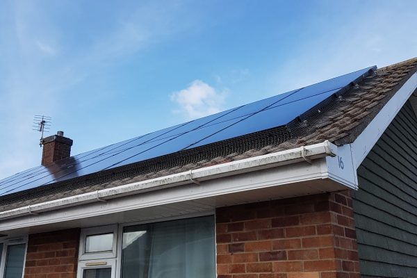 finished solar panel proofing